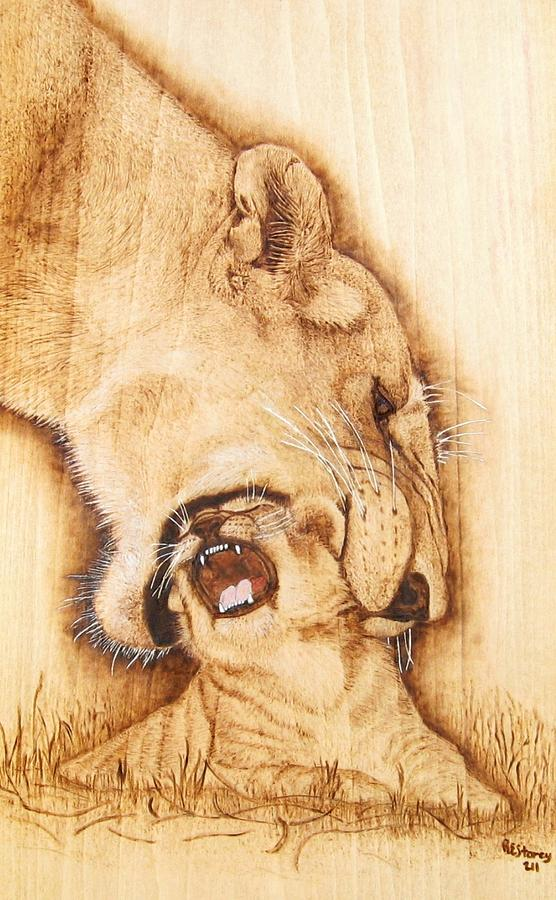 Animal Mixed Media - Pick Me Up by Roger Storey