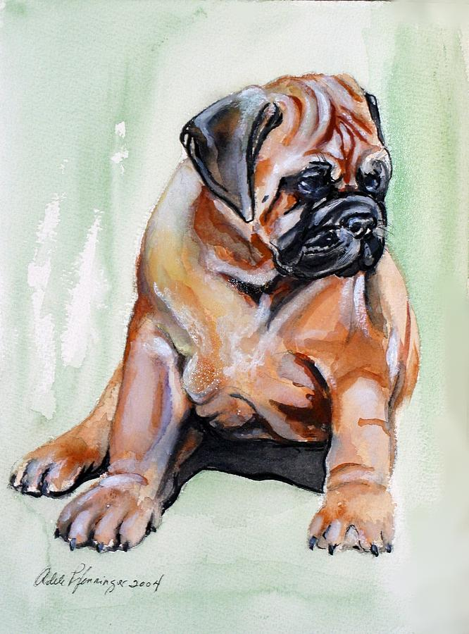 Bullmastiff Painting - Pick Of Litter by Adele Pfenninger