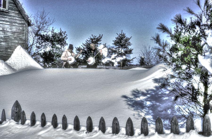 Winter Photograph - Pickin n Driftin by Michael Mazaika