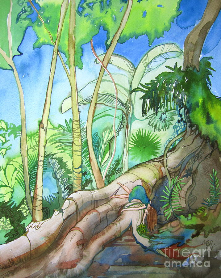Rainforest Painting - Picking by Maya Simonson
