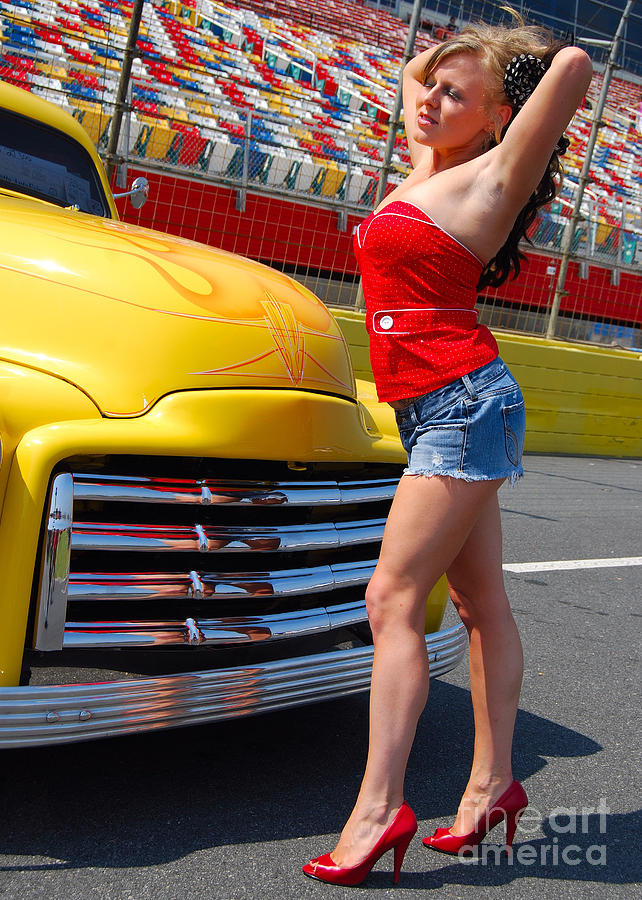 Vintage Vehicle Photograph - Pickup Pinup by Mark Spearman