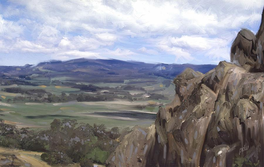 Australia Painting - Picnic At Hanging Rock by Philip White