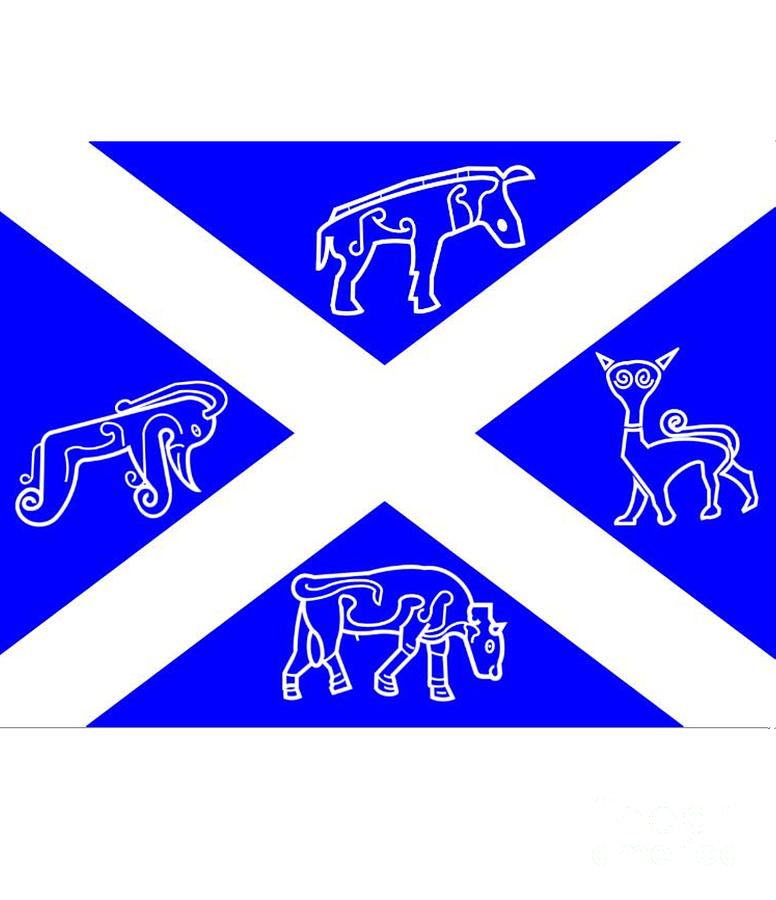 Pictish Digital Art - Pictish Scotland Flag by Frederick Holiday
