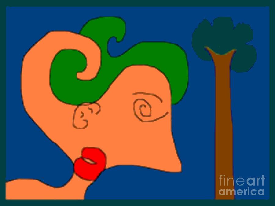 Woman Digital Art - Pictree by Meenal C