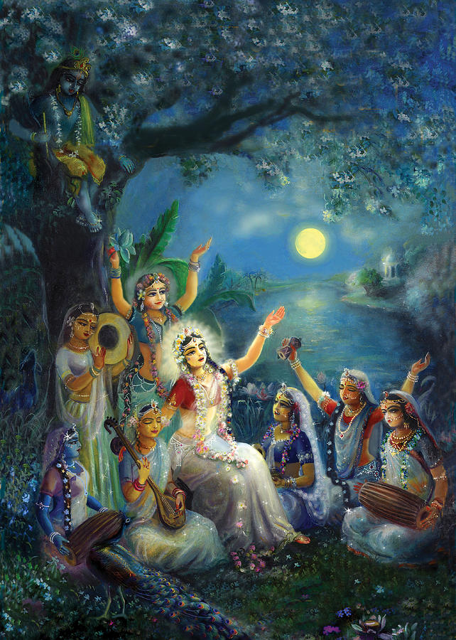 Radha Painting - Picture From Aindra Book  by Lila Shravani