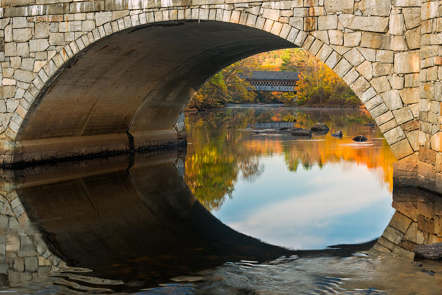 Contoocook River Photograph - Picture In Picture by Michael Blanchette