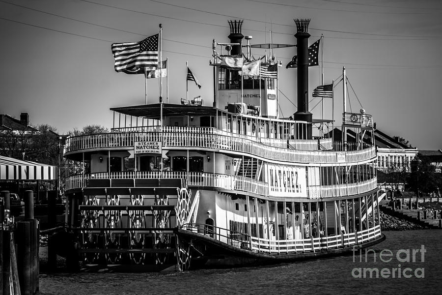 America Photograph - Picture Of Natchez Steamboat In New Orleans by Paul Velgos