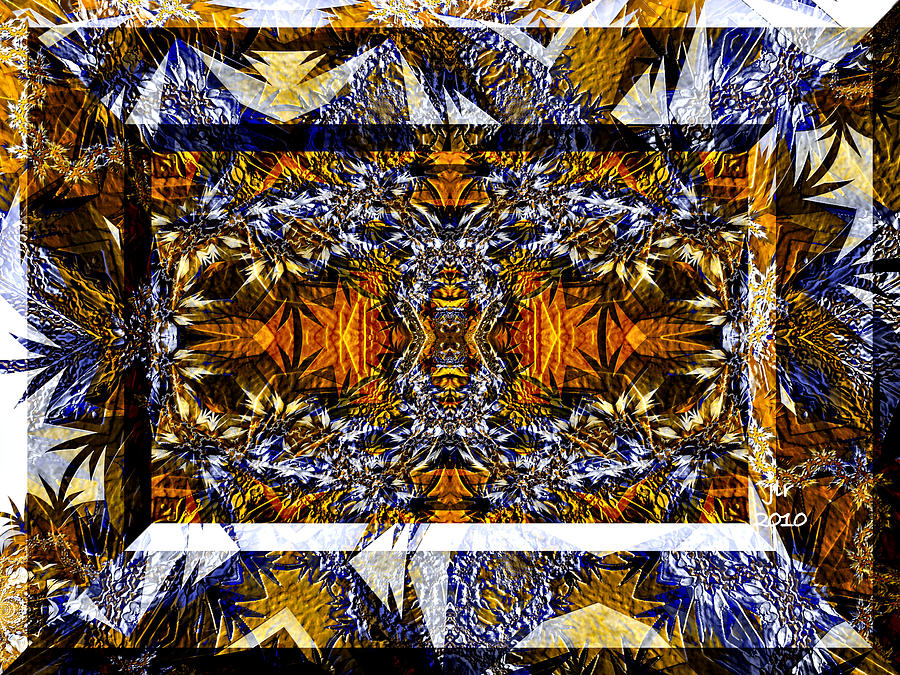 Fractal Digital Art - Picture Window by Janet Russell