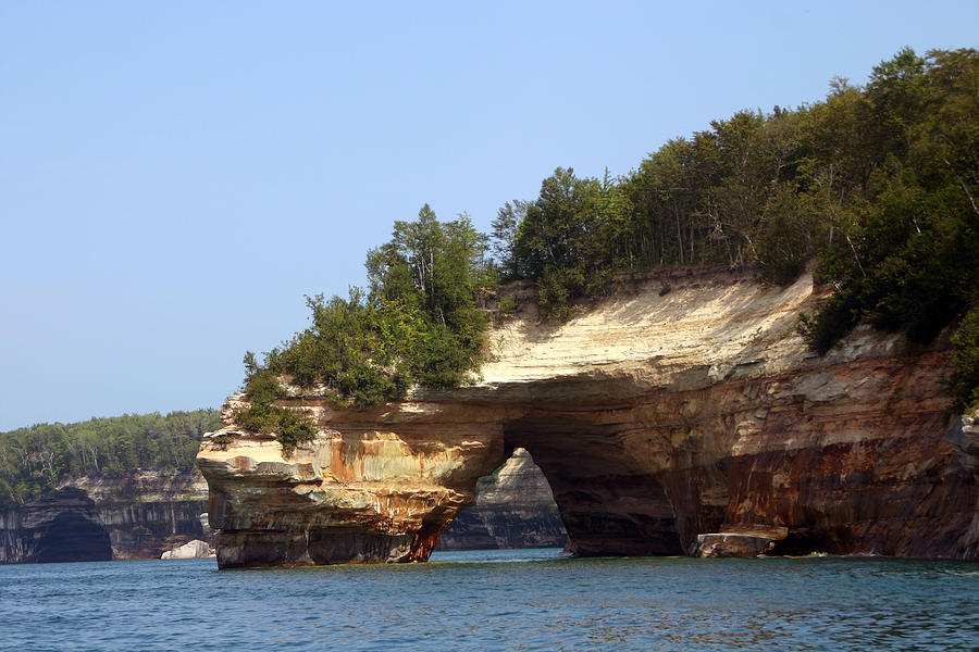 Pictured Rocks Photograph - Pictured Rocks Bridge by Kevin Snider