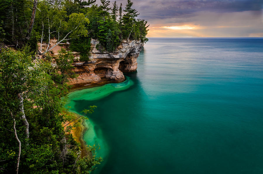 Pictured Rocks National Lakeshore Photograph by Posnov