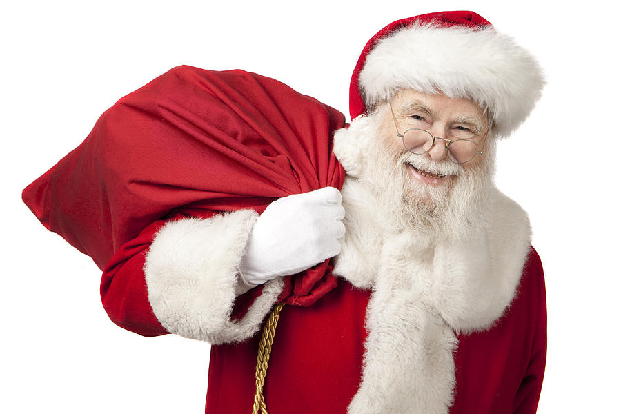 Pictures Of Real Santa Claus Carrying A Gift Bag Photograph by Inhauscreative