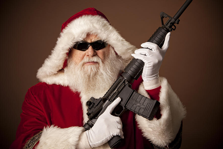 Pictures Of Real Santa Claus Got A Gun Photograph by Inhauscreative