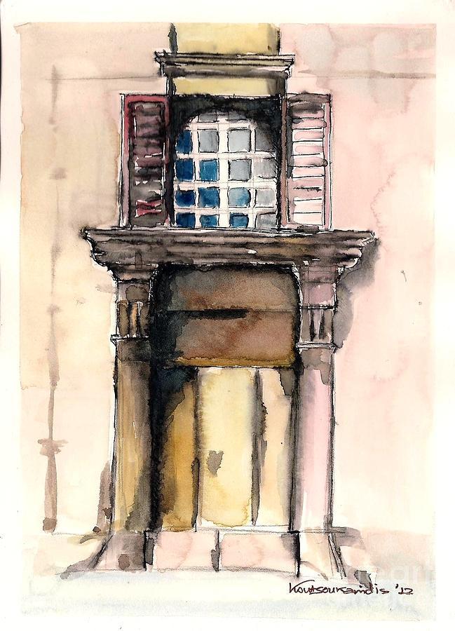 Door Painting - Picturesque Door by Kostas Koutsoukanidis