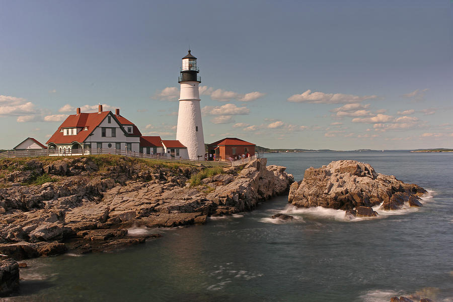 Lighthouse Photograph - Picturesque Portland Head Light by Juergen Roth