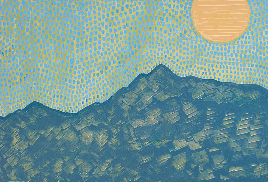 Painting Painting - Picuris Mountains Original Painting by Sol Luckman