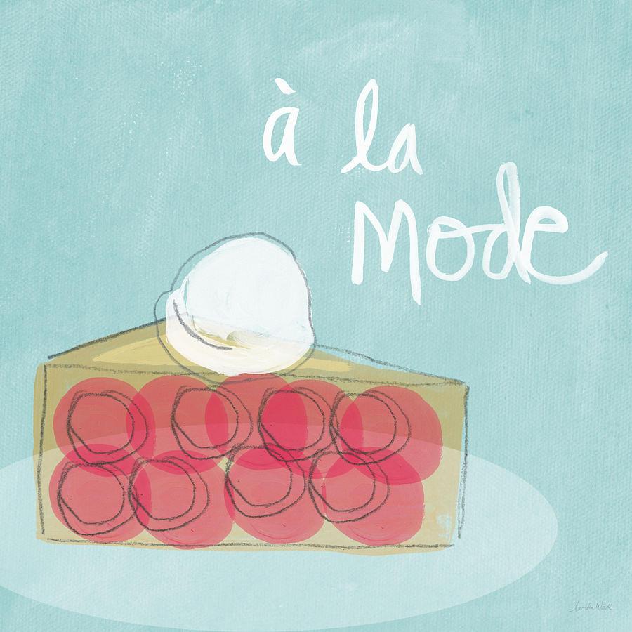 Pie Painting - Pie A La Mode by Linda Woods