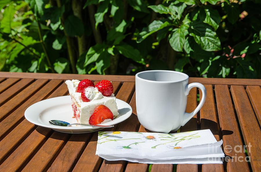 Piece Of Strawberry Cake Photograph