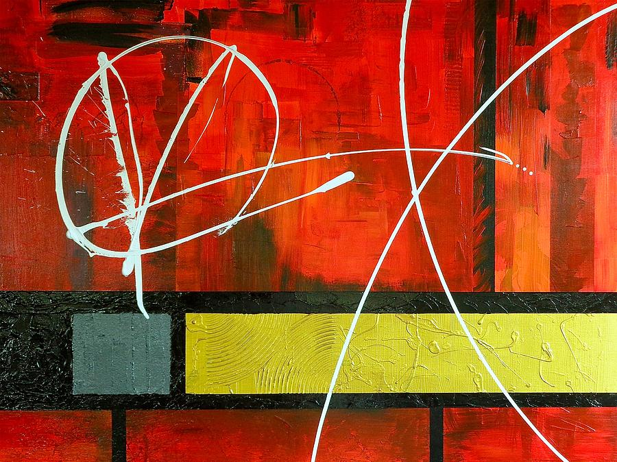 Red Painting - Piece Out by Rob Van Heertum