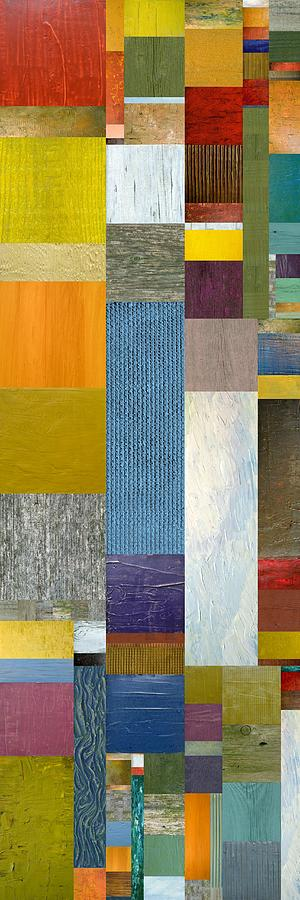 Multicolored Painting - Pieces Parts Ll by Michelle Calkins