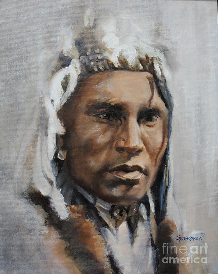 Piegan Warrior Portrait by Synnove Pettersen