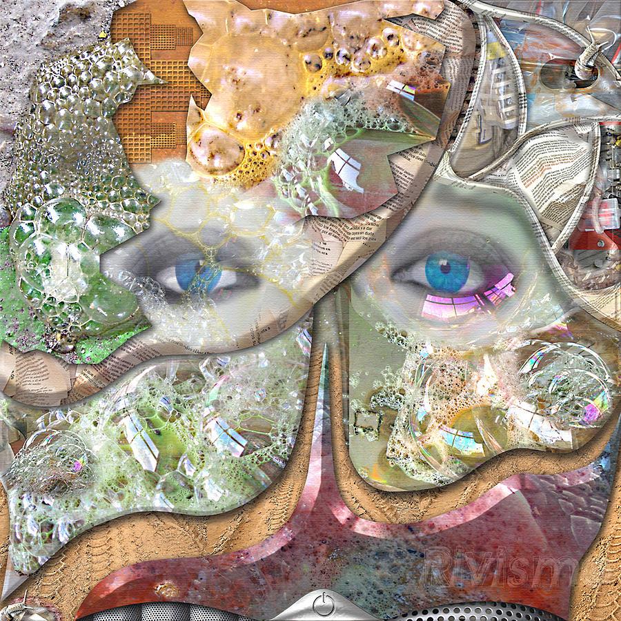 Piel Painting - Piel De Burbujas by Ramon Rivas - Rivismo