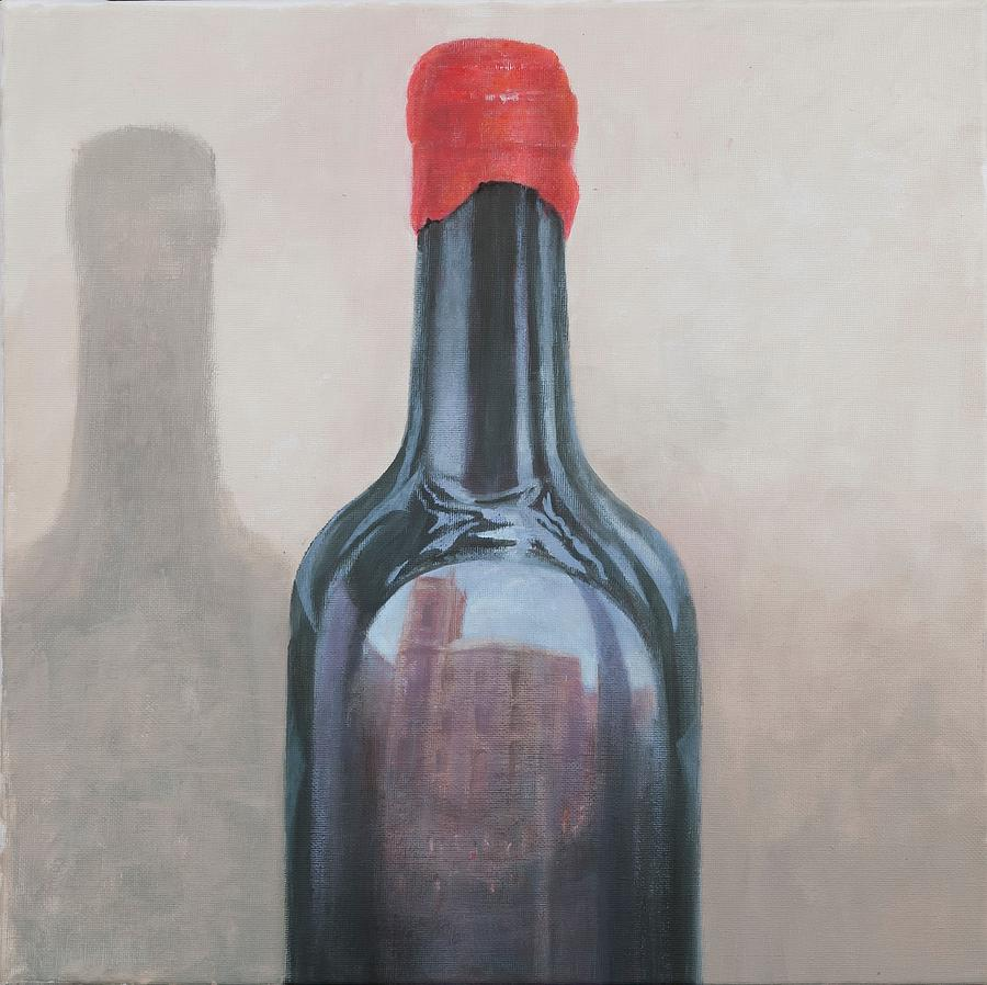 Wine Painting - Pienza Reflection by Lincoln Seligman