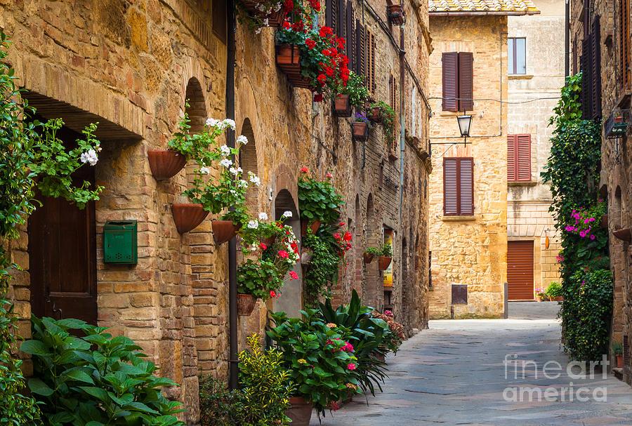 Europe Photograph - Pienza Street by Inge Johnsson