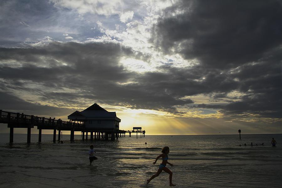 Pier Photograph - Pier 60 Sunset by Lori  Burrows