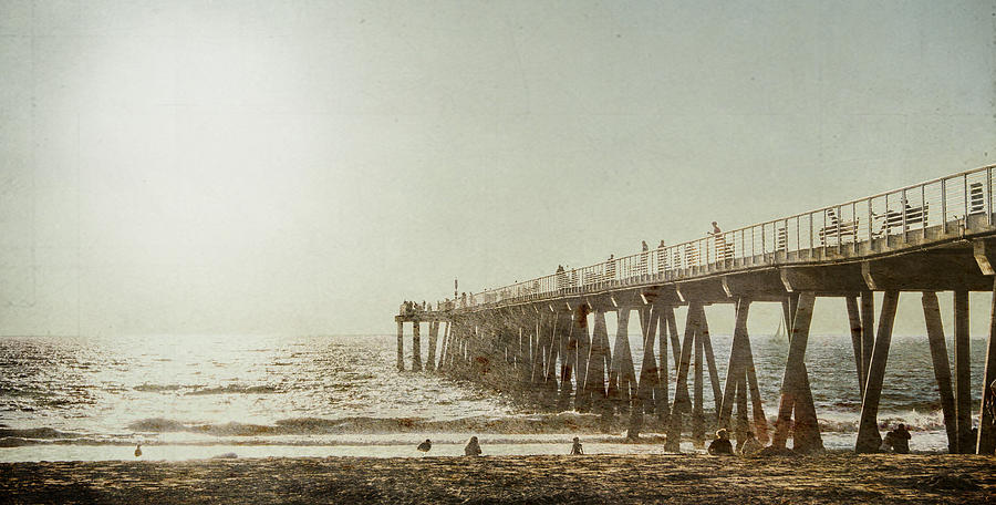 Pier Approaching Sunset by Kevin Bergen