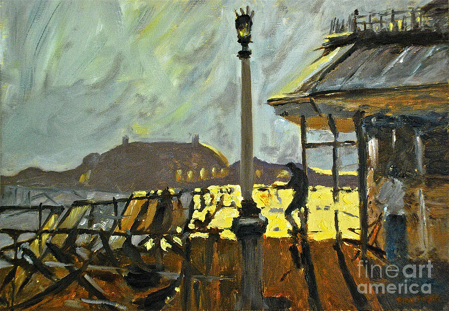 Brighton Pier Painting - Pier At Brighton by Amy Fearn