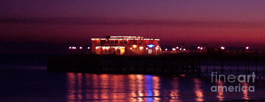 Pier Photograph - Pier By Night by Mark Bowden