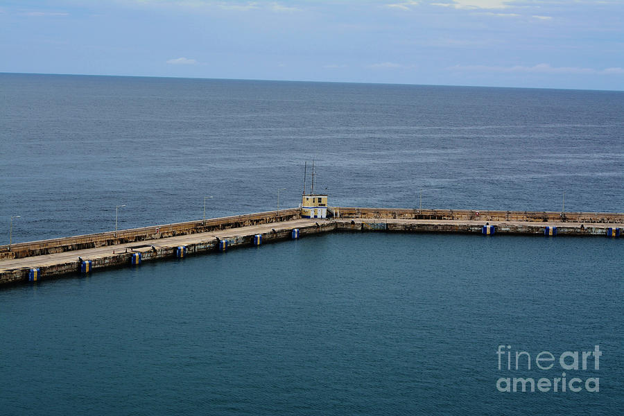 Shades Of Blue Photograph - Pier Less Traveled by Beth Sanders