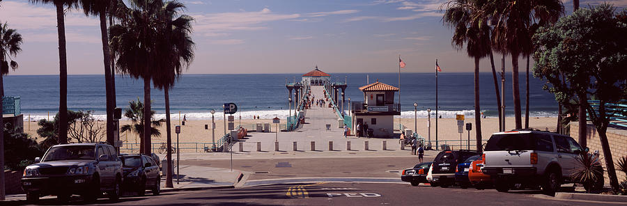 Color Image Photograph - Pier Over An Ocean, Manhattan Beach by Panoramic Images