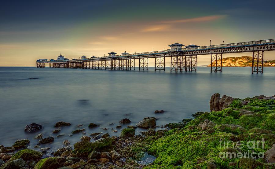 Llandudno Photograph - Pier Seascape by Adrian Evans