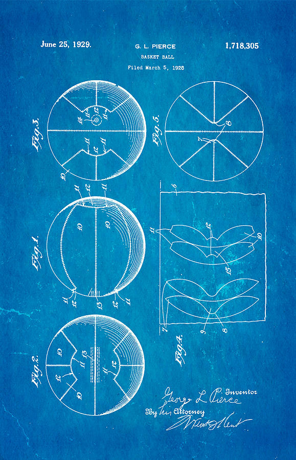 Pierce basketball patent art 1929 blueprint photograph by ian monk basket ball photograph pierce basketball patent art 1929 blueprint by ian monk malvernweather Choice Image
