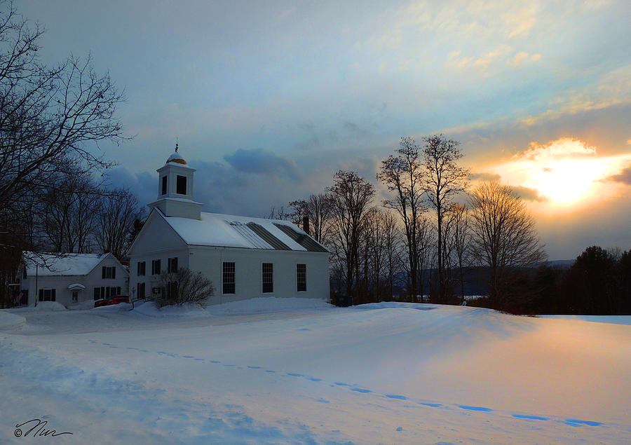 Piermont Church in Winter Light by Nancy Griswold