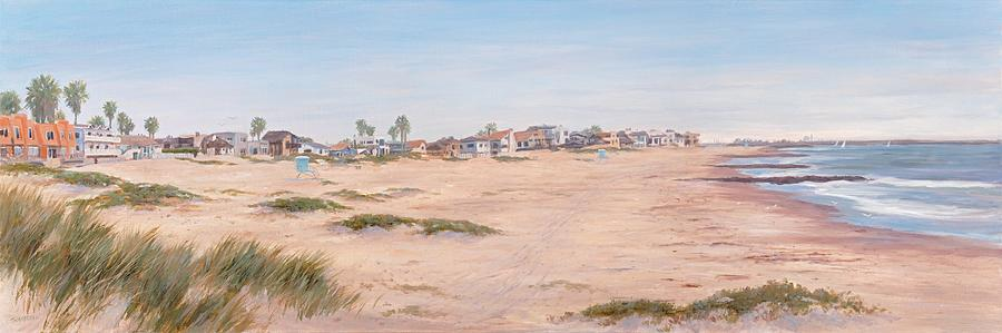 Beach Painting - Pierpont Sand Dunes by Tina Obrien