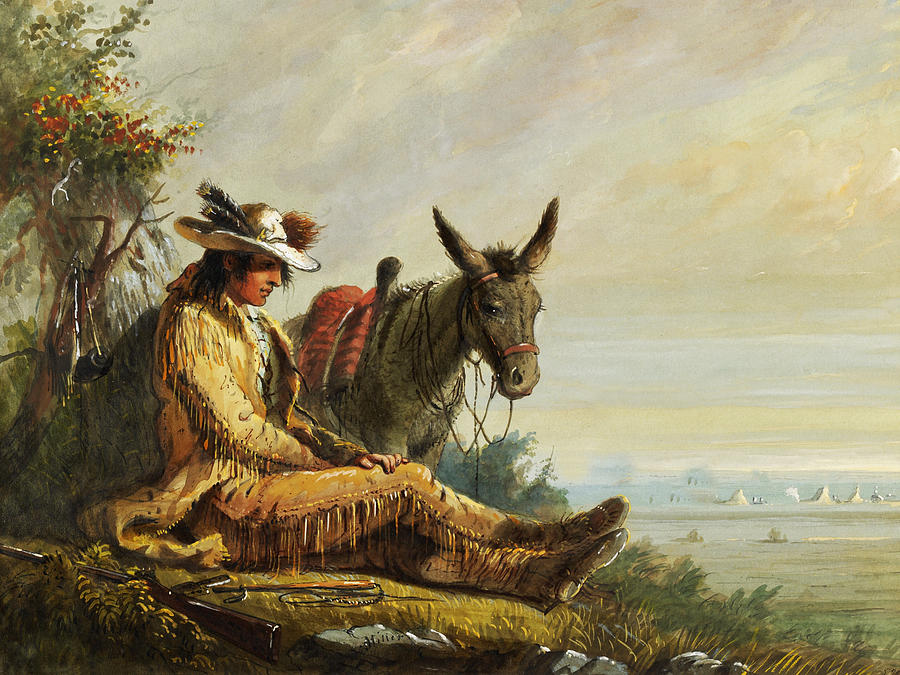 Alfred Jacob Miller Digital Art - Pierre by Alfred Jacob Miller