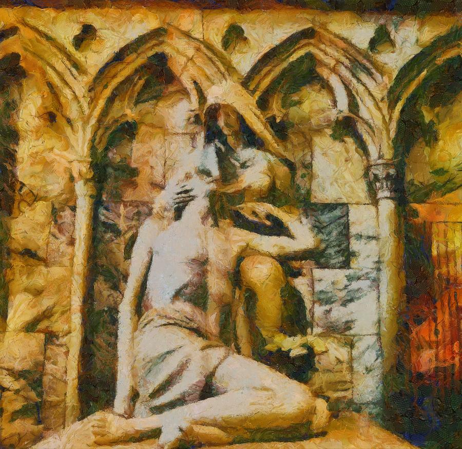 The Pieta Painting - Pieta Masterpiece by Dan Sproul