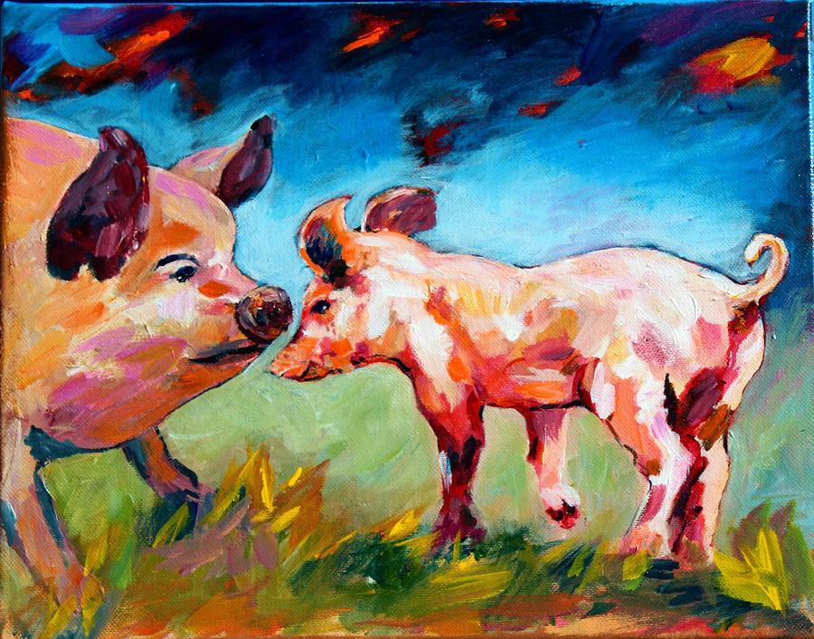 Pigs Painting - Pig Sense by Naomi Gerrard