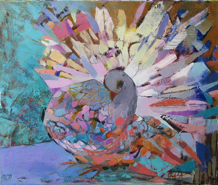 Pigeon Painting - Pigeon by GALA Koleva