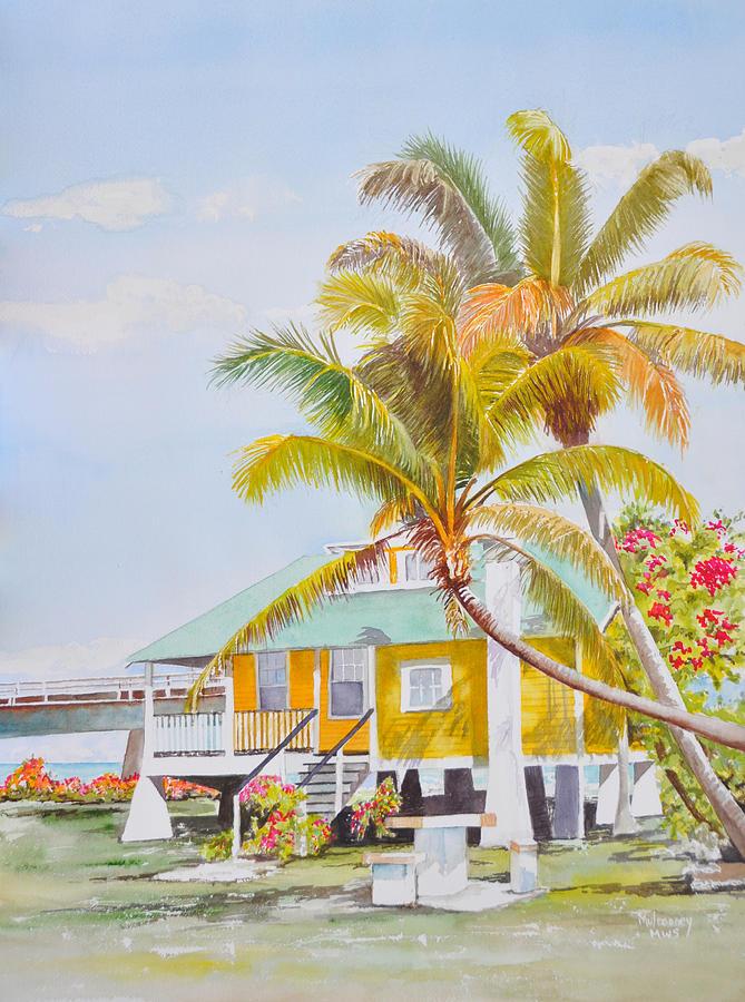 Florida Keys Painting - Pigeon Key - Home by Terry Arroyo Mulrooney