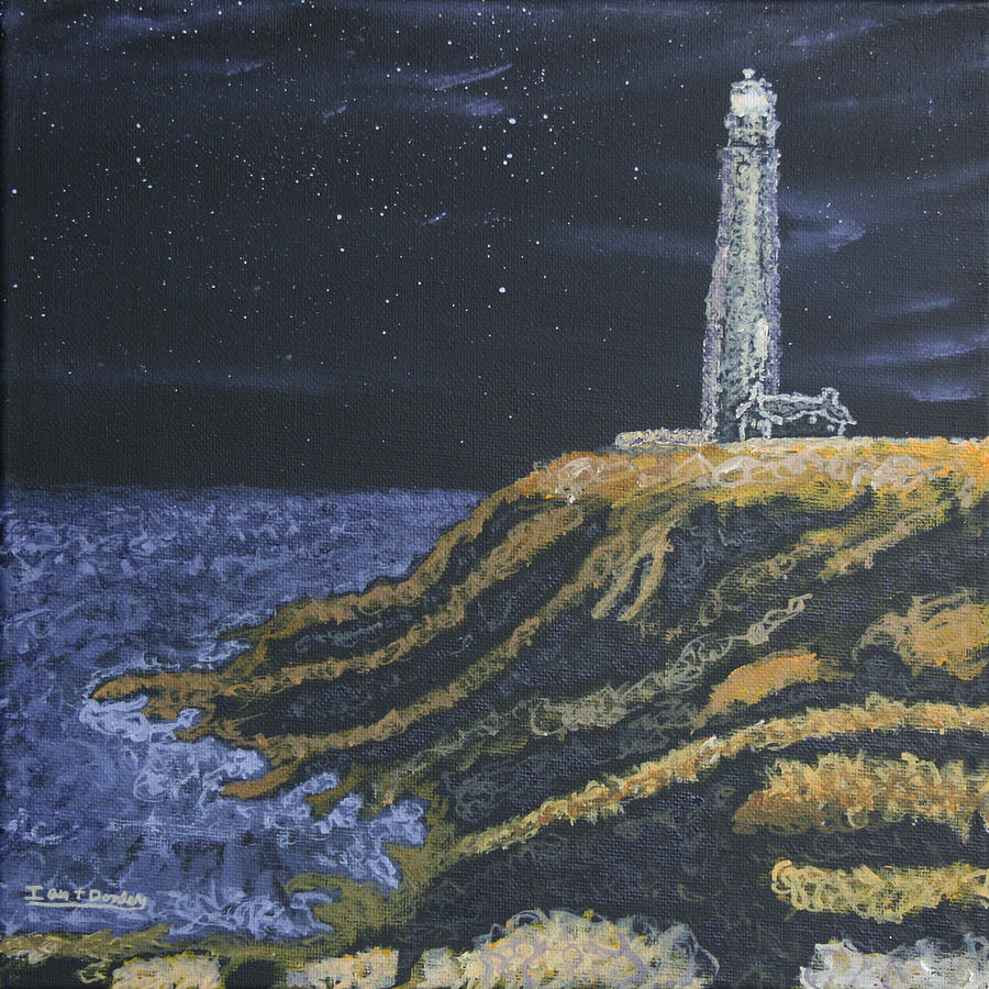 Pigeon Lighthouse Night Scumbling Complementary Colors