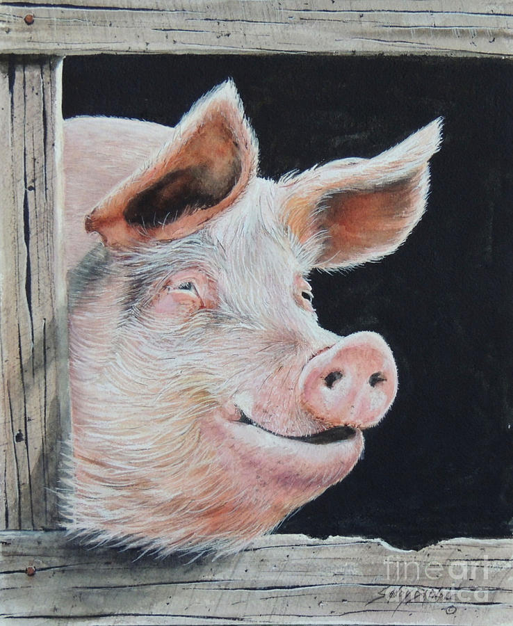 Piggy.  SOLD  by Sandy Brindle