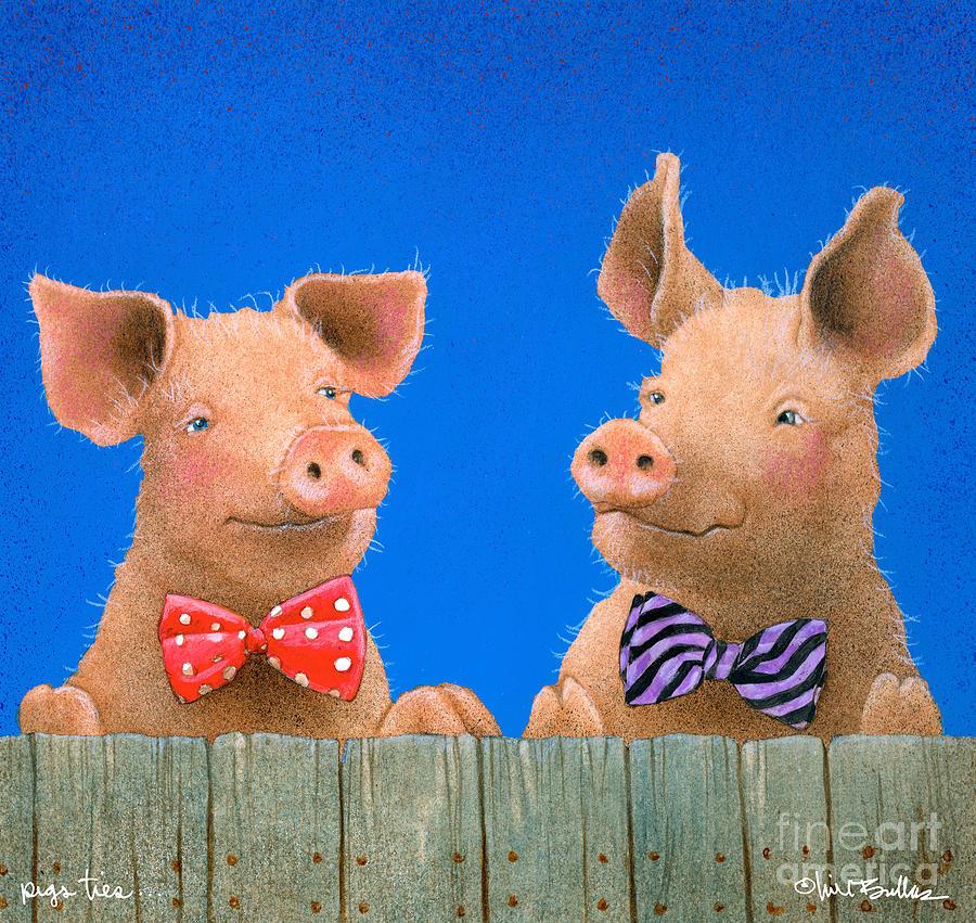 pigs ties... by Will Bullas by Will Bullas