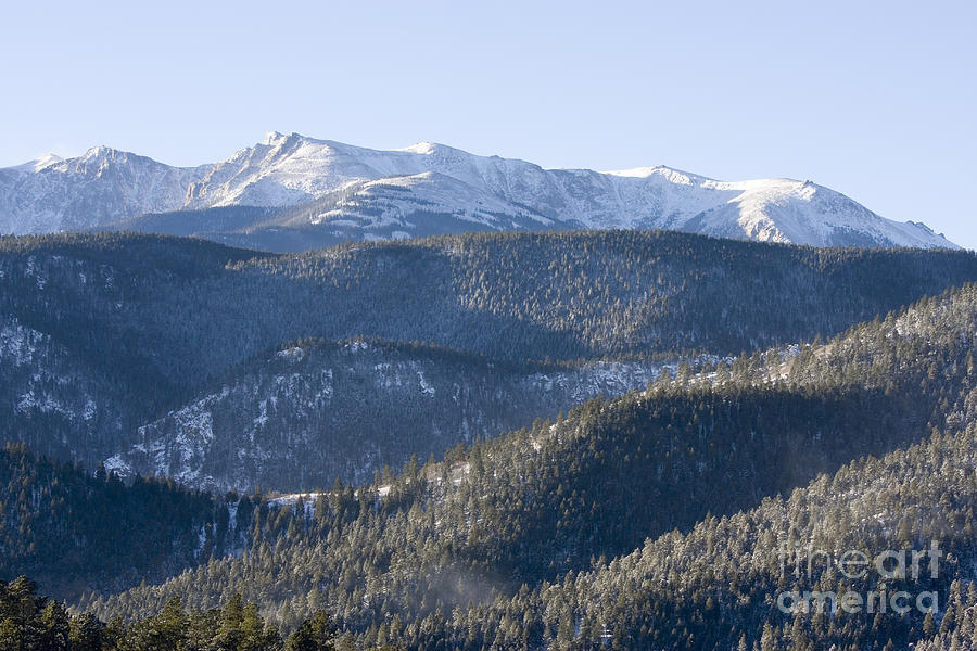 Pike National Forest In Snow Photograph