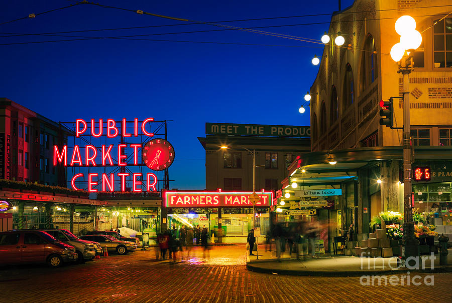 Seattle Photograph - Pike Place Market by Inge Johnsson