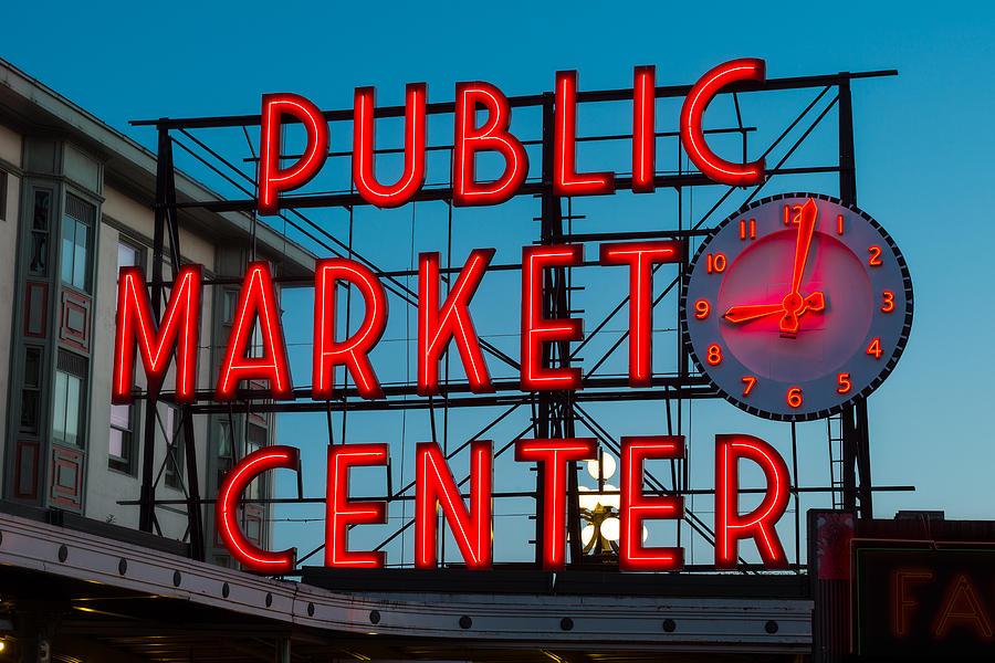 Pike Photograph - Pike Place Public Market Seattle by Steve Gadomski