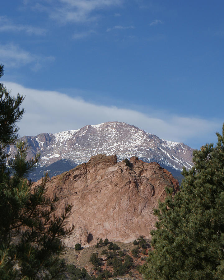 Colorado Artwork Photograph - Pikes Peak 2 by Ernie Echols