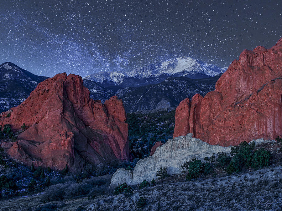 Pikes Peak At Night Photograph By Aaron Spong